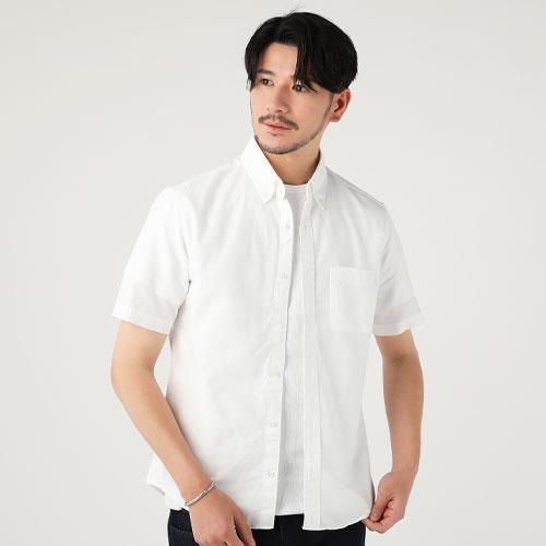 SPU/日本製 半袖 オックス ボタンダウン シャツ