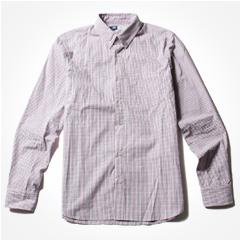 SPU/マルチパターンブロード長袖ボタンダウンシャツ