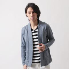 SPU/杢裏毛ガウン長袖カーディガン