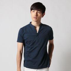 Upscape Audience×SPU/SPU別注 日本製30コーマV/Nバンドカラーポロシャツ