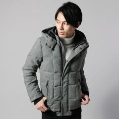 ツイードダウンミックスジャケット