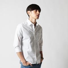 SPU/ストレッチブロード7分袖シャツ