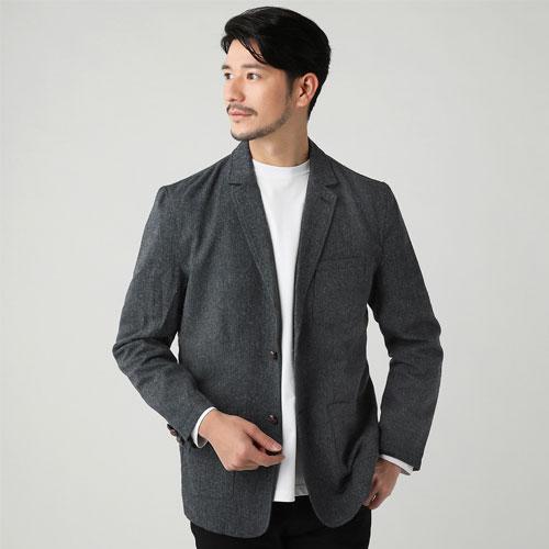 ツイードテーラードジャケット