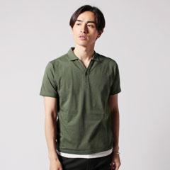 SPU別注 日本製30コーマ天竺Vネック半袖ポロシャツ