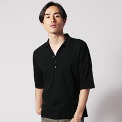 SPU別注 日本製30コーマ天竺5分袖ポロシャツ