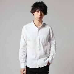 日本製超長綿ピンオックス長袖シャツ