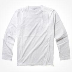日本製シルケットコーマ天竺クルーネック長袖Tシャツ