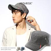 ASTARISK/ヒッコリーワークキャップ