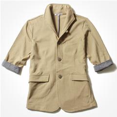 Buyer's Select/T/C鹿の子7分袖イタリアンカラージャケット