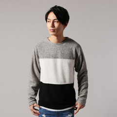 Buyer's Select/ジオメ切替ニットソーアンサンブル