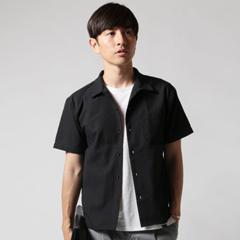 Buyer's Select/シアサッカーオープンカラー半袖シャツ