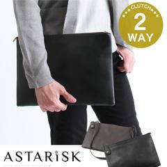ASTARISK/PUレザー2WAYクラッチショルダーバッグ