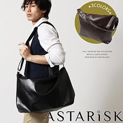 ASTARISK/PUレザーショルダーバッグ