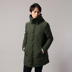 Buyer's Select/エステルツイルボリュームネック中綿コート