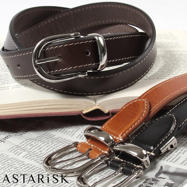 ASTARISK/バッファローレザーステッチベルト