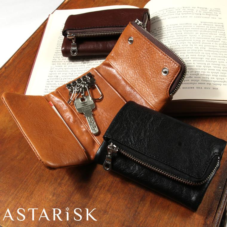 ASTARISK+/イタリアンレザーマルチキーケース