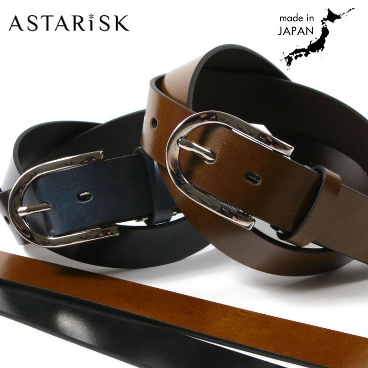 ASTARISK+/日本製イタリアンボンデッドレザー35mmベルト