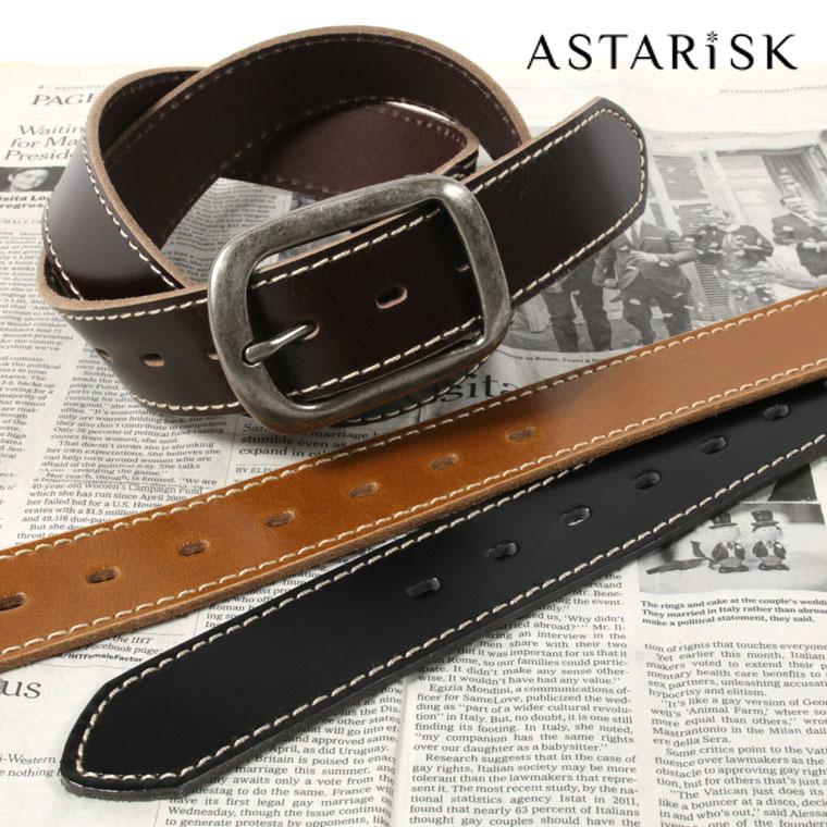 ASTARISK+/バッファローレザーステッチ40mmベルト