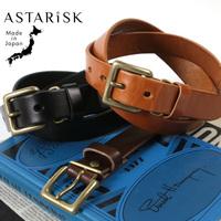 ASTARISK/日本製栃木レザー真鍮スクエアバックルベルト