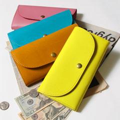 日本製グローブレザー フラップ長財布
