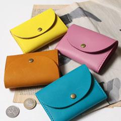 日本製グローブレザー ミニ財布