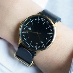 Cheapo/レザーベルトクオーツ腕時計