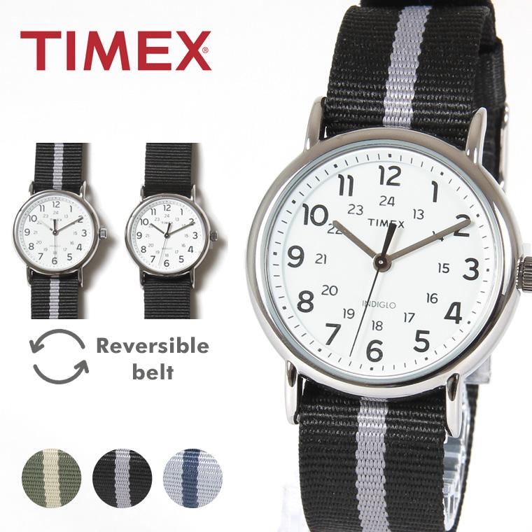TIMEX/リバーシブルナイロンベルト腕時計