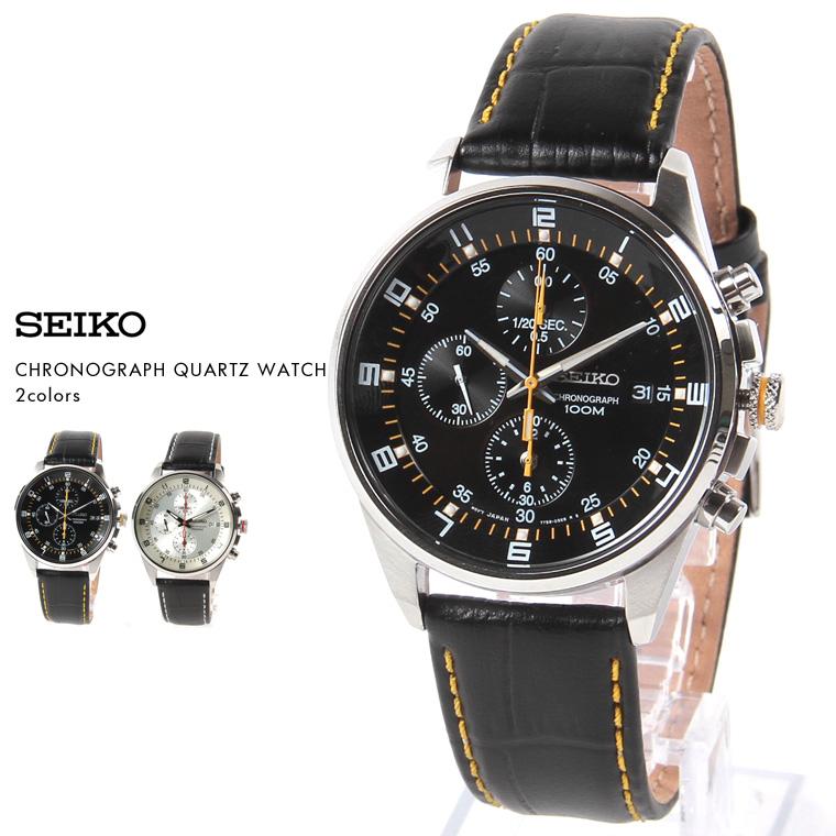 SEIKO/海外モデルクロノグラフクォーツ腕時計