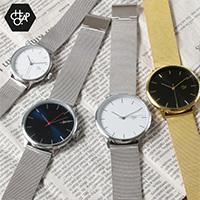 メッシュベルトクオーツ腕時計