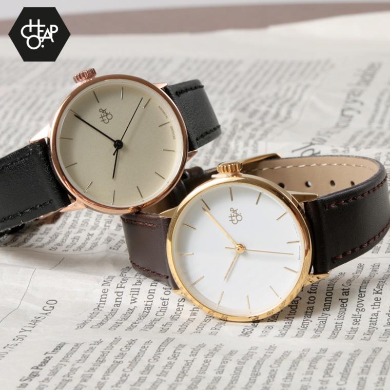 Cheapo/PUレザーベルトクオーツ腕時計