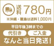 送料780円 ※沖縄・離島は送料1,000円 平日午後3時までの(代引き)(ご入金)なんと当日発送!