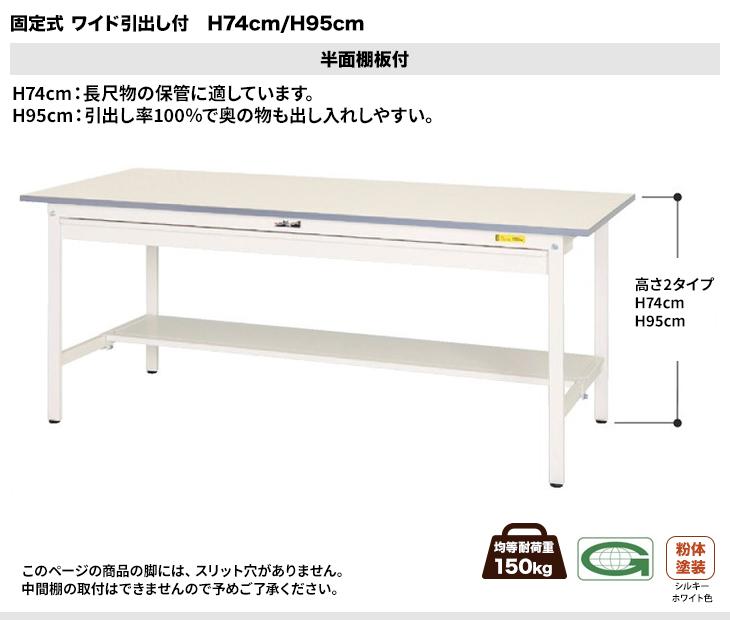 150シリーズ H74cm:半面棚板付き
