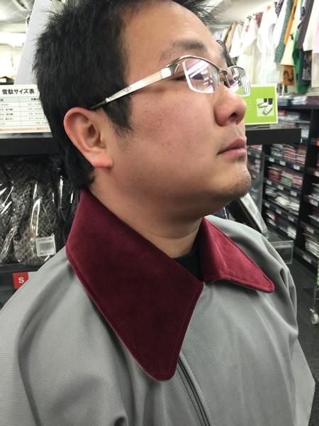 被布コート 襟