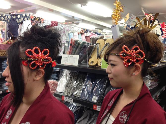 ねじり棒を使ったお祭りヘアアレンジ例