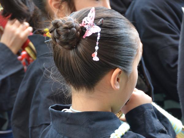 子供 お祭り 髪型