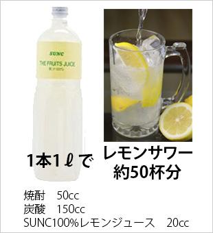 1本1Lでレモンサワー約50杯分