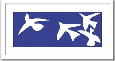【最高品質】モダンアート ポスター 壁掛け デザイナー:Henri, Matisse/Les oiseaux 1947
