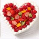 ハートケーキ いちご/フルーツ