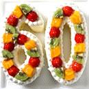 ナンバーケーキ いちご/フルーツ
