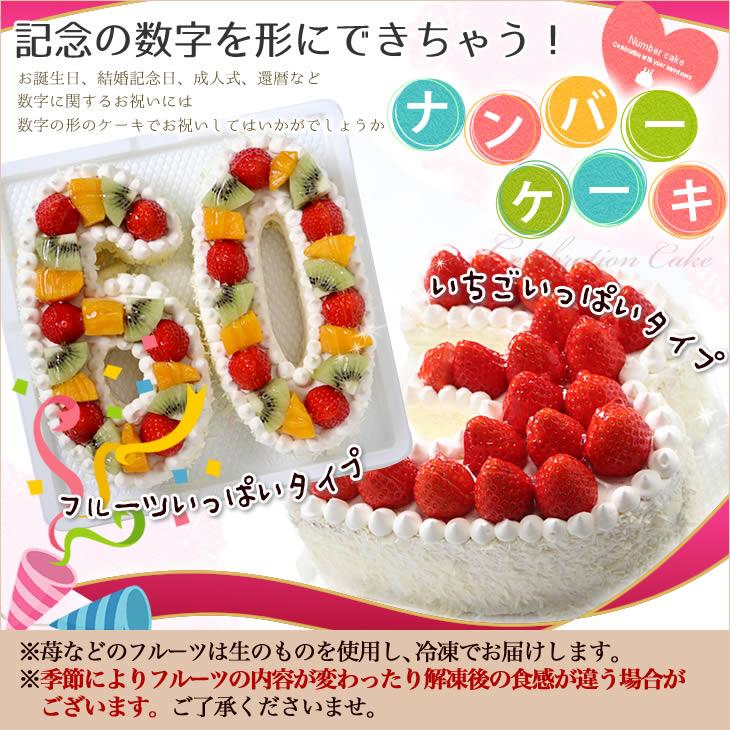 数字のケーキでアニバーサリー