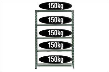 耐荷重は段ごと150kgまで!
