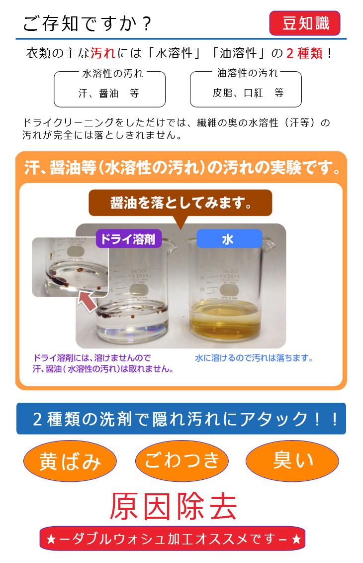 宅配クリーニング おしゃれ洗濯便 ダブルウォッシュ 2種類の洗剤 ドライクリーニング 水洗い