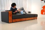 多機能ソファーベッドのレクサス側面