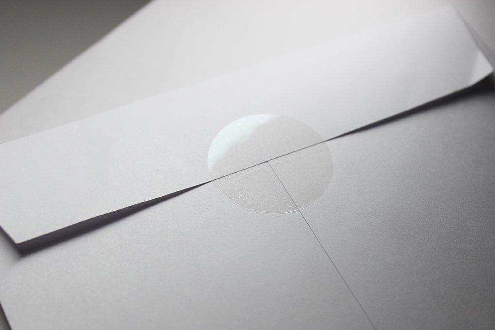 透明業務用封印シール