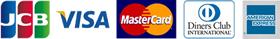 JCB/VISA/MASTER/AMEX/Diners
