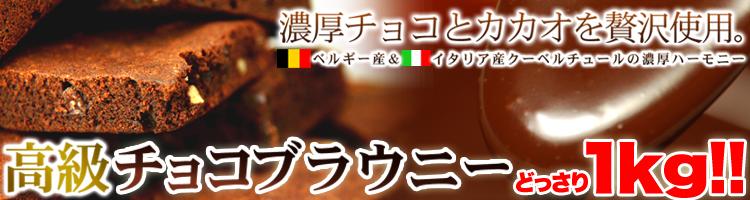 【訳あり】高級チョコブラウニーどっさり1kg!!(常温商品)