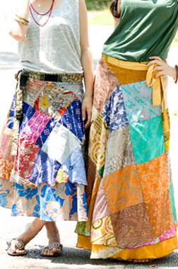20通りの着方のできる魔法のスカート