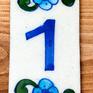 ブルーポッタリー ジャイプール陶器の数字デコレーションタイル