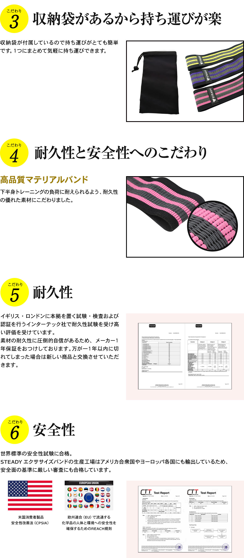 収納袋も付いて持ち運びも便利なトレーニングチューブを使うことで、どこでも美尻作りを出来るから便利で、更に耐久性と安全性にまでこだわった商品