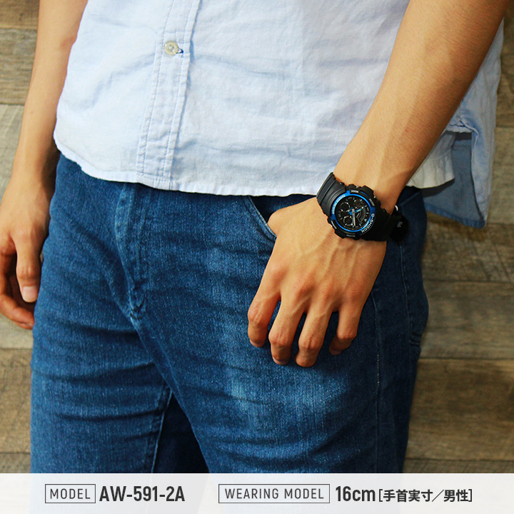 sports shoes 6c5fc 5ad3f The CASIO Casio G-SHOCK G ショックジーショックメンズレディース watch waterproofing analog  casual sports black black red red blue blue AW-590-1A AW-591-2A AW-591-4A  ...